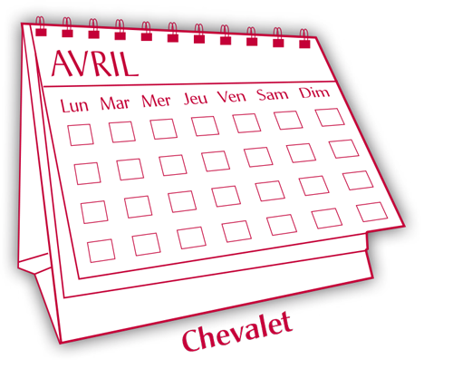 cadeau calendrier chevalet Imprimerie Cazaux