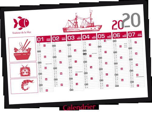 cadeau calendrier Imprimerie Cazaux